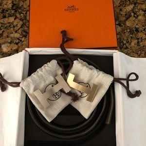 Constance 2 belt buckle/ reversible leather strap